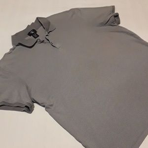 Calvin klein Men's Striped Gray S/L Polo Shirt XL